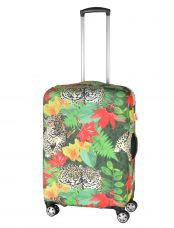 Чехол для чемодана средний Pilgrim LCS362 M Leopard with Flowers