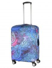 Чехол для чемодана средний Pilgrim LCS404 M Purple Blue Mix
