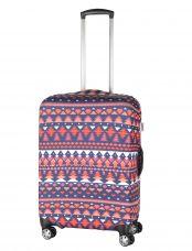 Чехол для чемодана средний Pilgrim LCS370 M Red, White, Purple Pattern