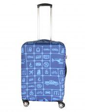 Чехол для чемодана большой Pilgrim LCS398 L Dark Blue and Light Blue Squares