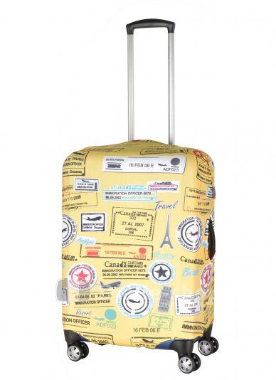 Чехол для чемодана средний Pilgrim LCS330 M Yellow Stickers