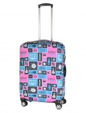 Чехол для чемодана средний Pilgrim LCS396 M Teal, Pink and Dark Squares