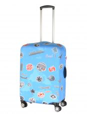 Чехол для чемодана Pilgrim LCS345 M Stamps on Blue