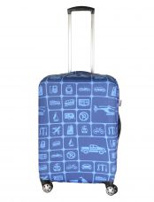Чехол для чемодана средний Pilgrim LCS398 M Dark Blue and Light Blue Squares